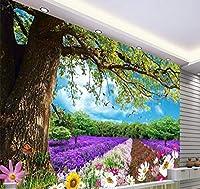 Chunxd 大規模なカスタム壁紙美しい木の花の夢の風景3D風景の背景の壁Papel Parede-450X300Cm