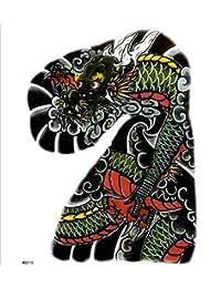 (ファンタジー) TheFantasy タトゥーシール 龍 ドラゴン 肩?胸用 大型 【大型?A4】