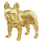 フレンチブルドッグ イギリス製 22ct ゴールドプレート アート ドッグ ブローチ コレクション