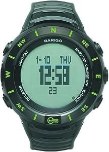 BARIGO (バリゴ) アウトドア腕時計 気圧高度計 E7 ブラック・グリーンE7BG [並行輸入品]