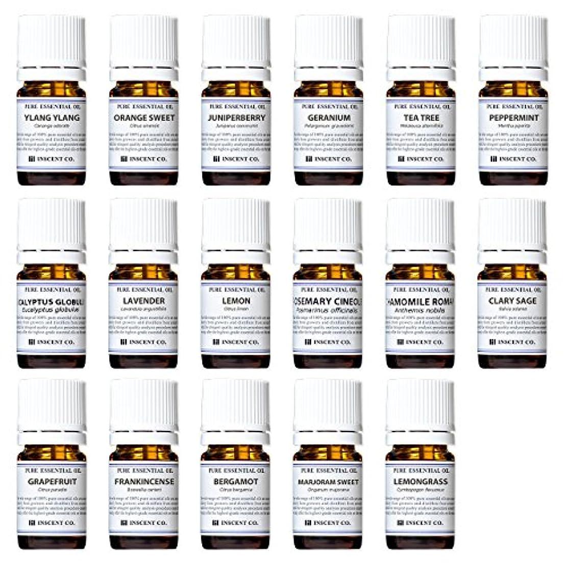 シニス傾斜薬局アロマテラピー検定香りテスト対応17種セット エッセンシャルオイル 精油 AEAJ インセント
