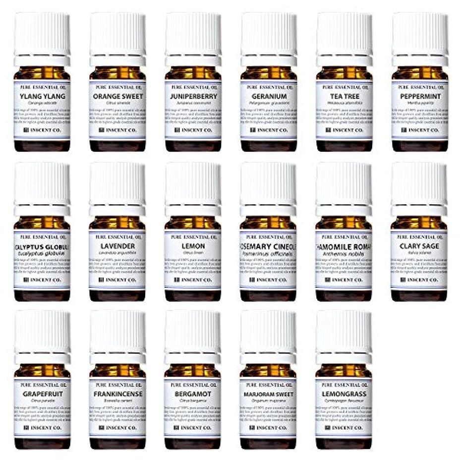 ジョージバーナード耐えられるフェリーアロマテラピー検定香りテスト対応17種セット エッセンシャルオイル 精油 AEAJ インセント