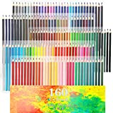 油性色鉛筆 160色セット 鉛筆削り 消しゴム付き
