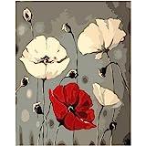 LovetheFamily 数字油絵 数字キット塗り絵 手塗り DIY絵 デジタル油絵 美しい花 40 x 50 cm ホーム オフィス装飾