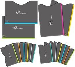 カードプロテクター iRainy 16個 RFIDブロッキングスリーブ [12個 クレジットカードスリーブ & 4個 パスポートスリーブ]