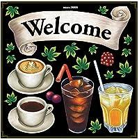 Pデコレーションシール 26899 Welcome コーヒー ジュース