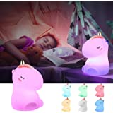 Unicorn Night Light,GoLine Unicorn Gifts for Girls Age 1-12,Unicorn Lamps for Baby,Kids Night Lights for Bedroom,Cute Silicon