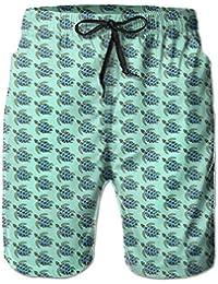 メンズ 水着亀パターン 男性スポツパンツボードショーツ 通気速乾