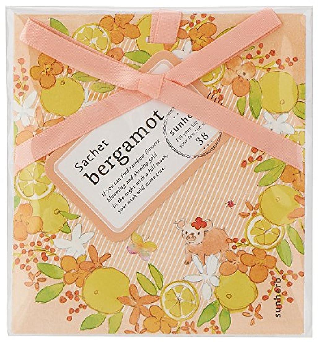 ラップ肺初期のサンハーブ サシェ ベルガモット 12個(芳香剤 香り袋 懐かしい甘酸っぱい香り)