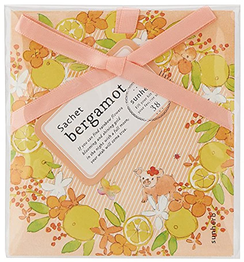 石のプログラム健康的サンハーブ サシェ ベルガモット 12個(芳香剤 香り袋 懐かしい甘酸っぱい香り)