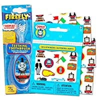 Thomas the Train Baby Toothbrush with Reward Stickers -- Teething Toothbrush Toddler Infant by Baby Toothbrush
