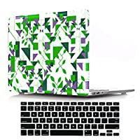 Macbook Retina 13 inch Cover Case,DIGIC Plastic Hard Laptop Case with Keyboard Cover for MacBook Pro 13.3 inch with Retina Display No CD-Rom(A1502/A1425),Polygonal geometry