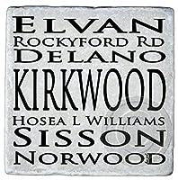 カークウッドSubway Sign、Atlanta大理石コースター。