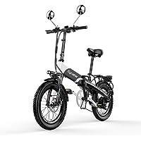 XF500 アシスト自転車 折りたたみ自転車 20インチ軽量自転車 マウンテンバイク ミニベロ自転車 48V*10AHリチウムバッテリー 専用充電器付 荷台付き