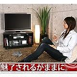 キャスター付き 木製 テレビ台 ロータイプ コーナー TV台 TVボード テレビラック 〔幅80cm〕 ブラック