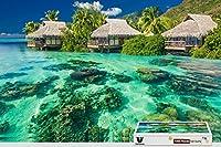 pigbangbang、29.5X 19.6インチ、ハンドメイドintellectivゲームプレミアム木製DIY接着のJigsaw Nice Painting–Ocean Tropical Sunshine Paradise–1000Piece