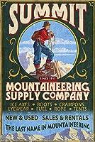 登山Supplies–Vintage Sign 24 x 36 Giclee Print LANT-55538-24x36