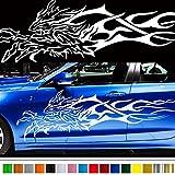 九尾カーステッカー109◆バイナルグラフィックワイルドスピード系デカール(ホワイト)★色変更可★