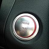 [NextBlue] メルセデス ベンツ Mercedes Benz スタートボタン アルミ リング カバー (レッド)