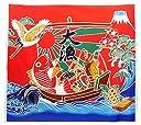 NASKA 生地 大漁旗 約110cm幅×100cm Col.1 赤 パネル 85801