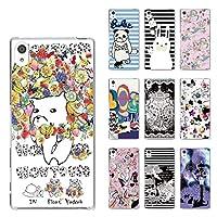 ScoLar スカラー デザイン Xperia Z5 Premium SO-03H機種専用スマホケース 50536 カバー ハードケース iPhone Xperia AQUOS Galaxy ARROWSフラワー 蝶 カラフル メルヘン シック ブランド ケース スカラー かわいい デザイン