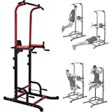 Power Tower Dip Station Pull-up Bar, Steel Horizontal Bar Pull Up Bar Home Gym Strength Training Workout Equipment for Men Wo