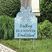 Big Dot of Happiness Winter Wonderland - Party Decorations - Snowflake Holiday Party & Winter Wedding Welcome Yard Sign [並行輸入品]