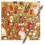 パンチスタジオ 【クリスマス】 ラッピングペーパー | 包装紙 (サンタクロース) GWX05