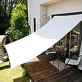 LOWYA (ロウヤ) 日よけ オーニング UVカット 日除け 断熱効果 シェード スクリーン 撥水 190×180 クリーム