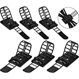 Cable Straps,Pyhot 50 Pack Black Adjustable Self-Adhesive Cord Organizers Multipurpose Cable Ties for Cable Wire Management
