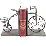 Fasmov Vintage Style Bicycle Bookends Art Bookend Green