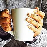 特大 マグカップ 500cc 【 アウトレット まぐ カップ マグ丼 大容量 美濃焼 日本製 白磁 コーヒーカップ スープカップ 大きい ポーセリンアート 】