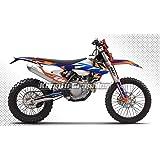 KUNGFU GRAPHICS(カンフー グラフィックス) デカールキット(ホワイト)2017 2018 2019 KTM 125 150 250 300 350 450 500 EXC EXC-F XCW 専用,デザイン番号 Style 011