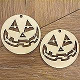 Lovoski ハロウィン かぼちゃライト 木製 クラフト DIY タグ パーティー装飾 10個入り