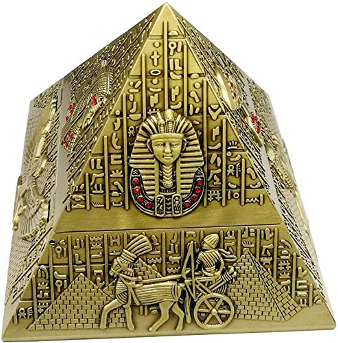 飛ぶ導入するサーマルアッシュトレイ男性、エジプトのピラミッドのための屋内屋外での使用のための蓋でエジプトのタバコの灰皿、喫煙ギフト用アッシュホルダー)