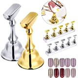Kalolary 2 Sets Nail Tips Stand Holders, Nail Holders Acrylic Base Professional Nail Art DIY Tools for Art Salon DIY and Prac