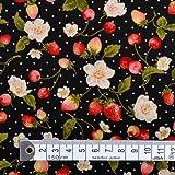 水玉に野苺 ブロード生地 浴衣 甚平 ハンドメイド 手作り用生地 0.5m単位でご注文いただけます。 T00B2300