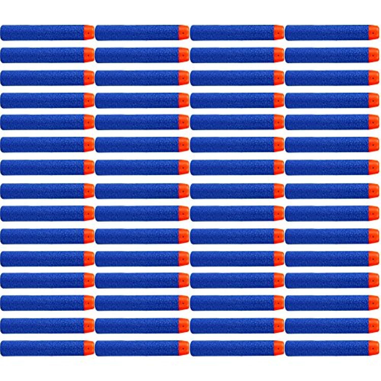 ナーフ N-ストライクエリート用 60本 フォームダーツ EVA詰め替え弾丸 マイクロダーツ おもちゃの弾丸 スポンジ弾 ユニバーダーツ 替え玉 ソフト弾丸 交換用弾すばやい 静音 安全 7.2cm ブルー