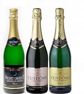 【ノンアルコールワイン お得な3本セット】【VENDOME ヴァンドーム クラシック/ロゼ 2本(辛口)+ NIGHT ORIENT CLASSIC ナイトオリエント1本(やや甘口)】スパークリング ドイツ産 ワイン お祝い プレゼント パーティー 記念日 誕生日 ギフト 750ml×3