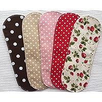 すぃーと・こっとん おりもの用 布ナプキン オーガニックスリムパッドSS5枚(いちごセット) OGSS-5-1