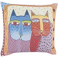wellhouse 可愛い 猫柄 ニャンコ CAT キャット 枕カバー 抱き枕カバー 綿麻製45*45cm クッションカバー 枕カバー 結婚祝い 新築祝い