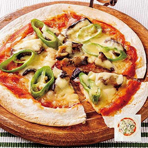 手作り 万願寺唐辛子と茄子のピザ 1枚