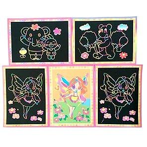 (デイリー スウィート)Daily Sweet   子供 おもちゃ 画材 スクラッチアート スクラッチペーパー 10枚セット ランダムで発送