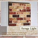 ファブリックパネル Renga Light 30×30×2.5cm 単品販売 ライト レンガ インテリア 北欧 お洒落インテリア お家カフェ 同梱可