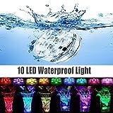 水族館の水槽の光が水中照明ダイビングをLED 防水7色のキャンドルライト (Packing1/ロードされました))