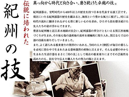 山家漆器店 茶托 4.0寸 溜塗 貝貼梅(5枚組)