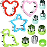 Stainless Steel Sandwiches Cutter set, Mickey Mouse & Dinosaur & Heart & Star Shapes Sandwich Cutters Cookie Cutters Vegetabl