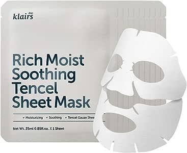 クレアスリッチモイストスージングテンセルシートマスク25mlX10枚セット (Klairs Rich Moist Soothing Tencel Sheet Mask 25mlX10ea) [並行輸入品]