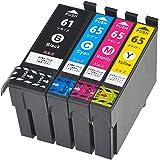 IC4CL6165 ICチップ付き 残量表示可能 ZAZ 互換インク 4色 ICBK61 ICC65 ICM65 ICY…