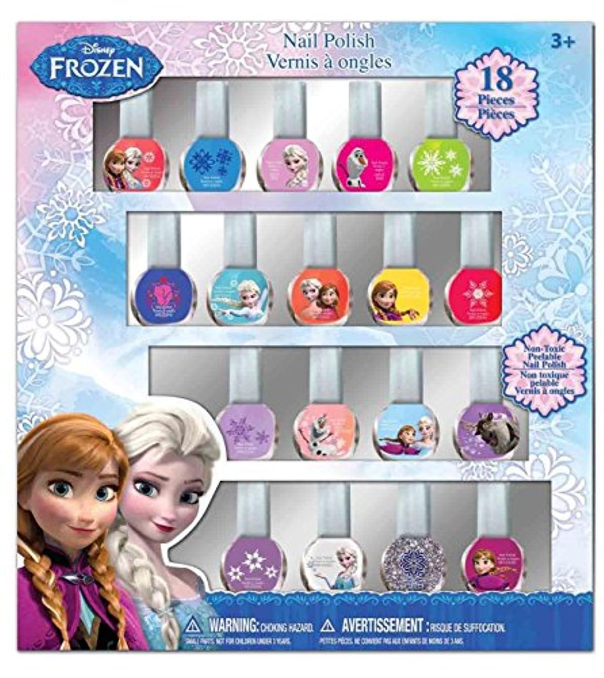 汚れる被る確立しますディズニー アナと雪の女王 はがせるマニュキュア18本セット Disney Frozen Nail Polish (18p)